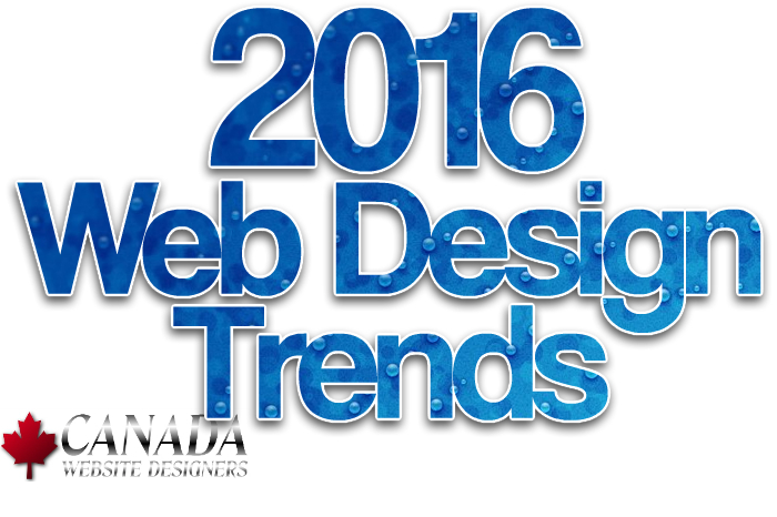 2016 Canada Website Design Trends